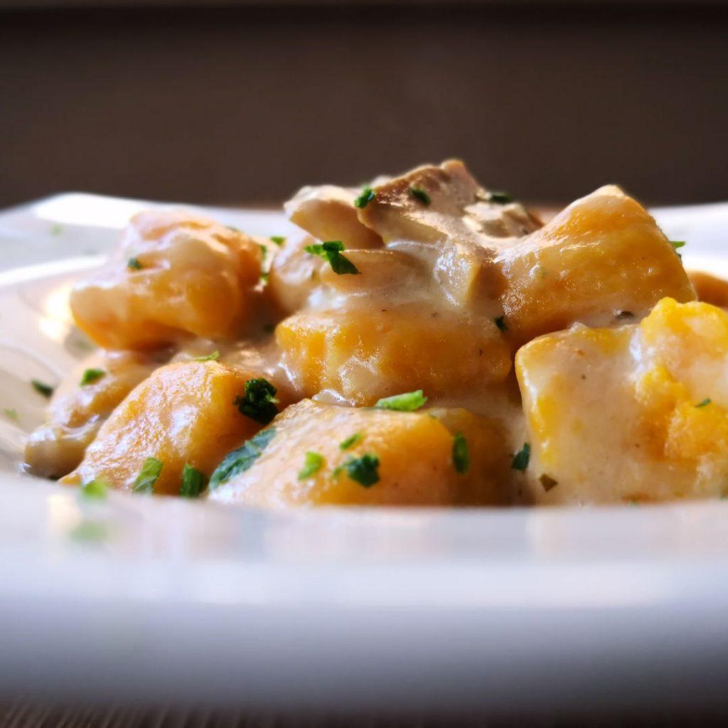 Gnocchi di patate ai funghi porcini